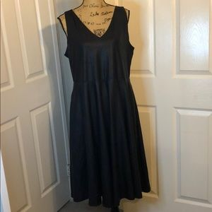 NWT Fit and flare faux leather dress SZ 18/20
